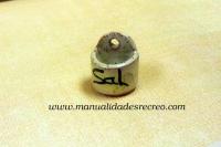 Salero de cerámica - Salero de ceramica con nombre en miniatura