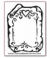 Sello de goma, Pergamino - Tampón para base de metacrilato, pergamino