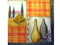 Paquete Servilletas Paisaje y Botellas de aceite - Paquete de servilletas decoradas.