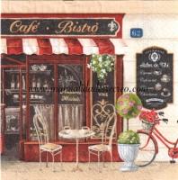 Paquete de servilletas, Café Bistro