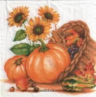 Paquete servilletas, Calabaza - Paquete de servilletas para manualidades