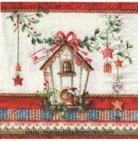 Paquete servilletas Casita pájaro - Paquete servilletas decorativas, Casita pájaro