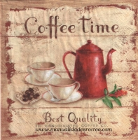 Paquete de servilletas, Coffee time - Paquete de servilletas decorativo, Coffee Time