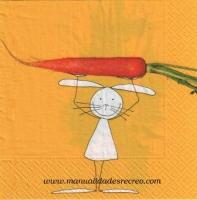 Paquete de servilletas, Conejito - Paquete de servilletas decorativas, Las flores
