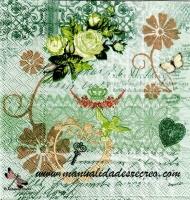 Paquete servilletas, Variedad verde - Paquete de servilletas decorativas, variedad verdes