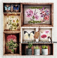 Paquete de servilletas, Composición Flores - Paquete servilletas con motivos flores