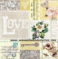 Paquete de servilletas, Romantica - Paquete de servilleta, Romantica