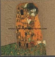 Servilleta El beso - Servilleta decorada, El beso de Klimt