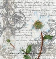 Paquete de servilletas, Flor y plata - Paquete de servilletas, Flores