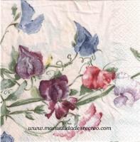 Paquete de servilletas, Flores malvas - Paquete de servilletas decorativas, Uvas