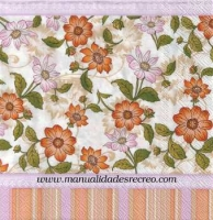 Paquete de servilletas, Flores