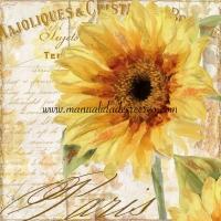 Paquete de servilletas, El girasol - Paquete de servilletas decorativas, Girasol