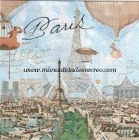 Paquete servilletas Globos en Paris - Paquete de servilletas decorativas