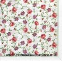 Paquete de servilletas, Florecitas y rosas - Paquete de servilletas de florecitas pequeñas