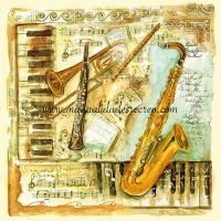Paquete de servilletas, Instrumentos - Paquete de servilletas decorativas, Instrumentos
