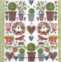 Paquete de servilletas jardín