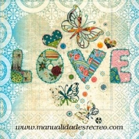Paquete de servilletas, Love - Paquete de servilletas decorativas, Love