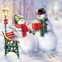 Paquete de servilletas, Muñecos Nieve - Paquete servilletas muñecos de nieve