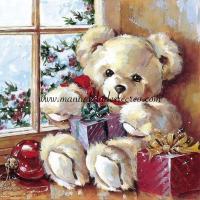 Paquete de servilletas, Osito Navidad - Paquete de servilletas, Osito Navidad