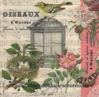Paquete de servilletas, Oiseaux