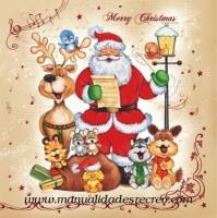 Servilleta navidad Santa claus - Servilleta de navidad con Santa claus