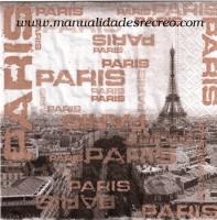 Paquete servilletas, Paris eiffel