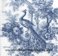 Paquete de servilletas, Pavo real - Paquete de servilleta tonos azules