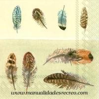 Paquete de servilletas, Plumas - Paquete de servilletas decorativas, Plumas