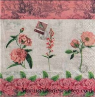 Paquete servilletas French Roses - Paquete de servilletas de rosas