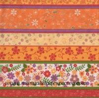 Paquete de servilletas, Cenefas con Flores - Paquete de servilletas cenefa de flores