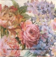 Paquete de servilletas, Flores de acuarela - Paquete de servilletas decorativas