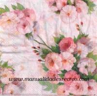 Paquete servilletas, Rosa Ariatna - Paquete de servilletas; rosas suaves
