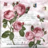 Paquete servilletas, Rosas - Paquete de servilletas para decoración