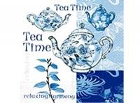 Paquete servilletas Té - Paquete de servilletas con motivos azules de té