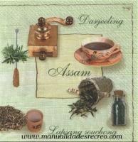 Paquete de servilletas, Thea - Servilletas decoradas, motivos de té