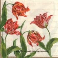 Paquete servilletas, tulipanes clásicos - Paquete de servilletas decorativas, Tulipanes