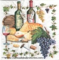 Paquete servilletas, vino - Paquete de servilletas decorativas