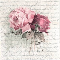 Servilleta Vintage design - servilletas con rosas