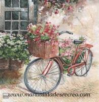 Paquete de servilletas, Bici con flores
