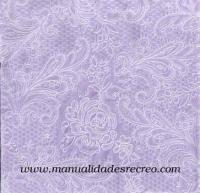 Paquete de servilletas, Estampada en lila