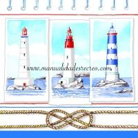 Paquete Servilletas, Faros - Paquete de servilletas decorativas