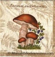 Paquete servilletas Setas - Paquete de servilletas decorativas de hongos