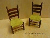 Sillas de enea - Dos sillas de enea