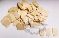 Tejas de madera 100 unidades - Bolsa de 100 unidades de tejas de madera