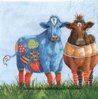 Paquete servilletas Vacas de colores - Paquete de servilletas decorativas