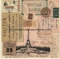 Servilleta Ville de Paris - Servilleta con motivos de Paris