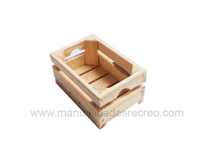 Barquilla de madera - Barquilla de madera en miniatura