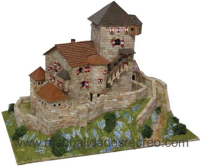 Castillo de construcción, Burg Branzoll - Castillo de la marca Aedes, construcción de maquetas