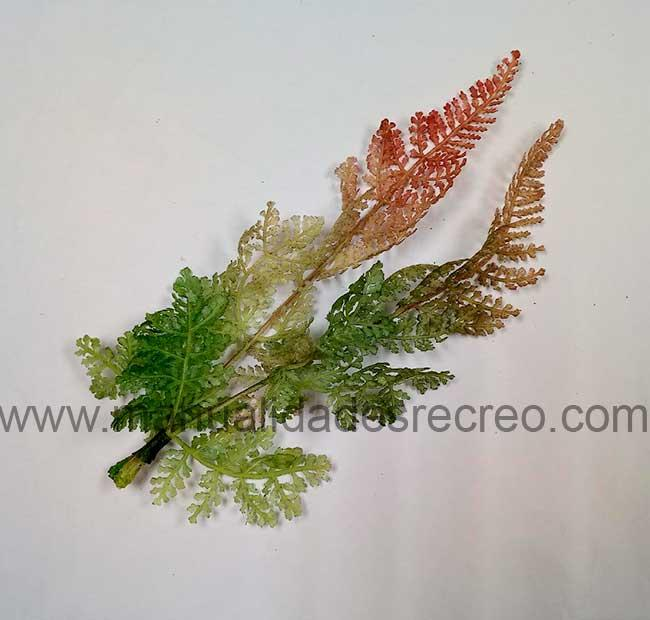 Helechos color otoño - Hojas de helechos para maquetas o belenes. Modelismo en general