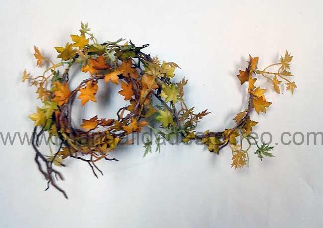 Enredadera de otoño - Tira de hojas de enredadera en miniatura